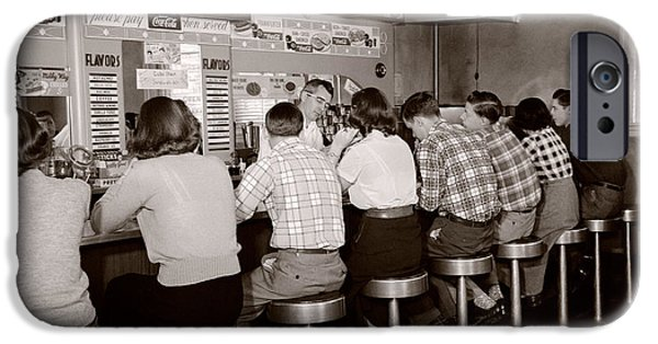 Teens At A Diner, C. 1950s IPhone Case by H. Armstrong Roberts/ClassicStock