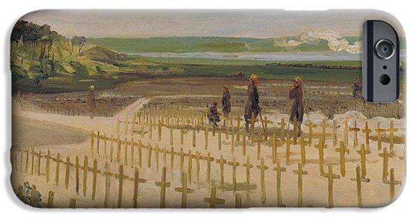 The Cemetery, Etaples IPhone Case by John Lavery