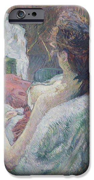 The Model Resting IPhone Case by Henri de Toulouse-Lautrec