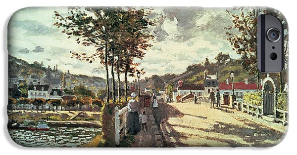The Seine At Bougival IPhone Case by Claude Monet