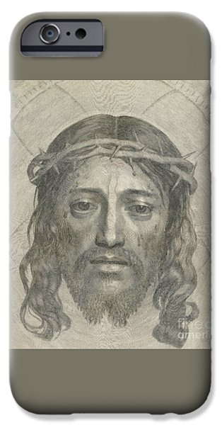 The Sudarium Of Saint Veronica IPhone Case by Claude Mellan