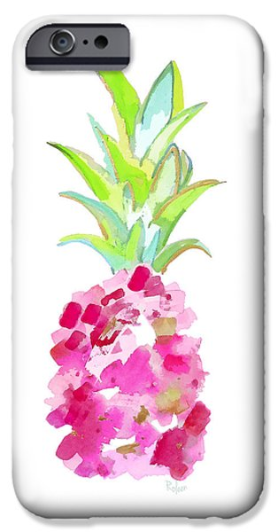 Tropical Pink And Gold IPhone Case by Roleen Senic