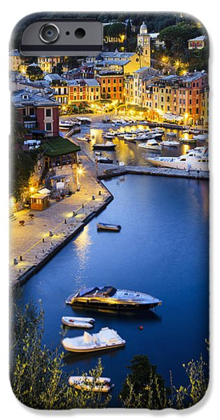 View Of The Harbour At Dusk  Portofino IPhone Case by Yves Marcoux