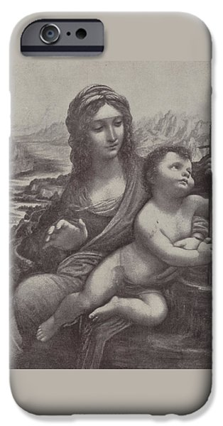 Virgin And Child IPhone Case by Leonardo Da Vinci
