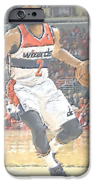 Washington Wizards John Wall IPhone Case by Joe Hamilton
