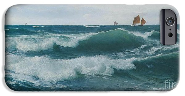 Waves Breaking In Shallow Waters IPhone Case by Celestial Images