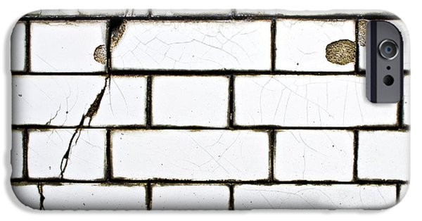 White Tiles IPhone Case by Tom Gowanlock