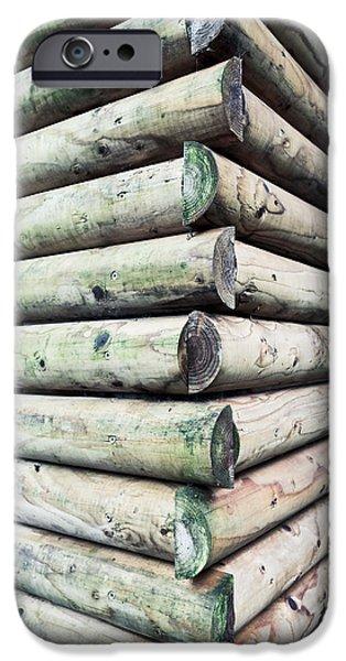 Wood Cabin IPhone Case by Tom Gowanlock