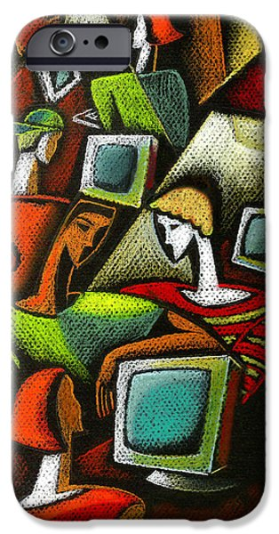 Working Together IPhone Case by Leon Zernitsky