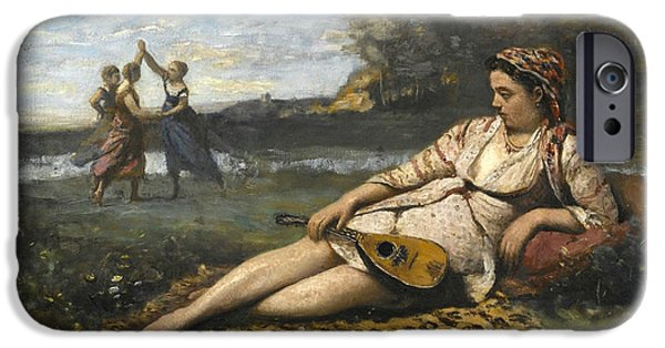 Young Women Of Sparta IPhone Case by Jean-Baptiste-Camille Corot
