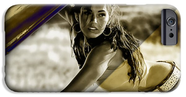 Megan Fox Collection IPhone Case by Marvin Blaine