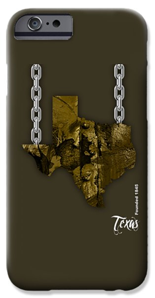Texas State Map Collection IPhone 6s Case by Marvin Blaine