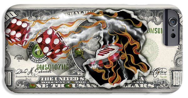 $1000 Bill Winning Big IPhone Case by Michael Godard