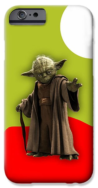Star Wars Yoda Collection IPhone Case by Marvin Blaine