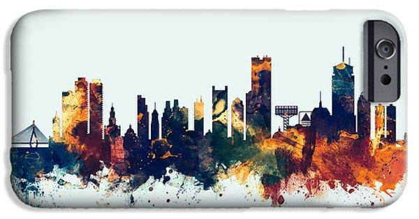 Boston Massachusetts Skyline IPhone Case by Michael Tompsett