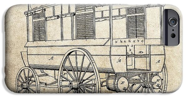1858 Ambulance Patent IPhone Case by Dan Sproul