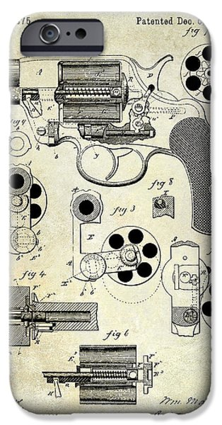 1881 Revolver Patent  IPhone Case by Jon Neidert