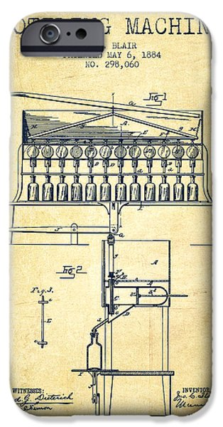 1884 Bottling Machine Patent - Vintage IPhone Case by Aged Pixel