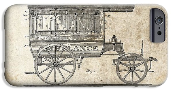 1889 Ambulance Patent IPhone Case by Dan Sproul