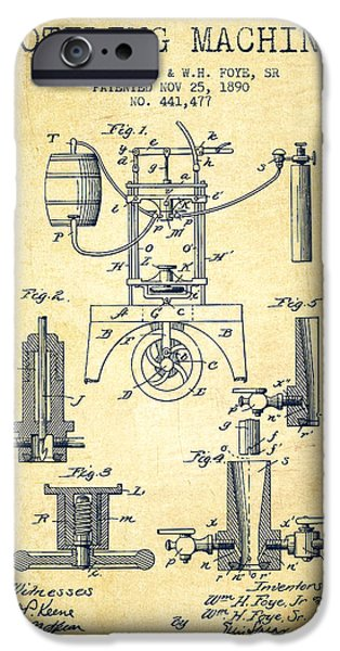 1890 Bottling Machine Patent - Vintage IPhone Case by Aged Pixel