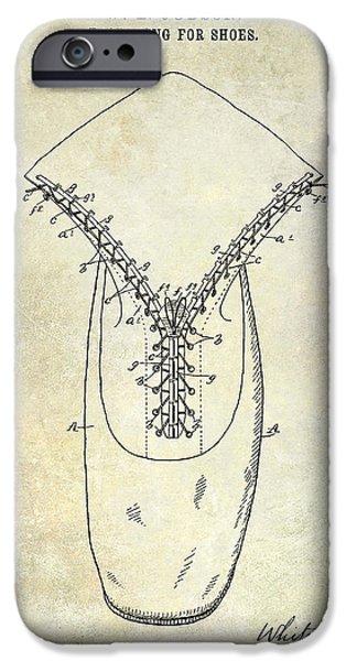 1896 Shoe Patent  IPhone Case by Jon Neidert