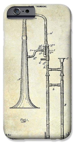 1902 Trombone Patent IPhone 6s Case by Jon Neidert