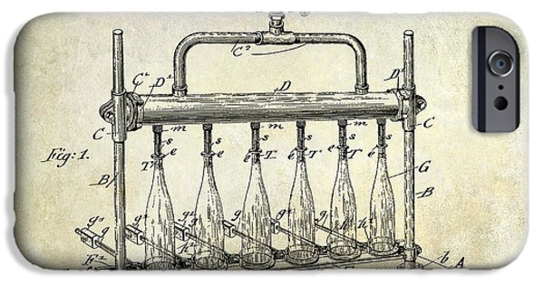 1903 Bottle Filling Patent IPhone Case by Jon Neidert