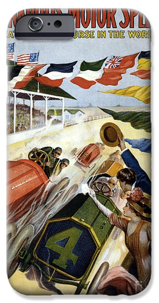 1909 Indy 500 Poster IPhone Case by Jon Neidert