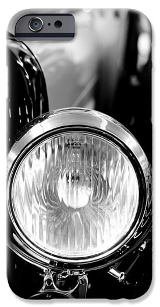 1925 Lincoln Town Car Headlight IPhone Case by Sebastian Musial