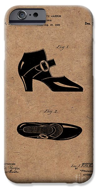 1928 Mary Jane Shoes Patent 1 IPhone Case by Nishanth Gopinathan