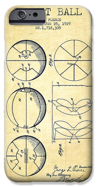 1929 Basket Ball Patent - Vintage IPhone Case by Aged Pixel