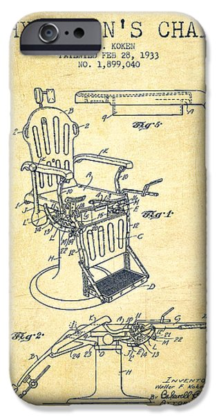 1933 Physicians Chair Patent - Vintage IPhone Case by Aged Pixel