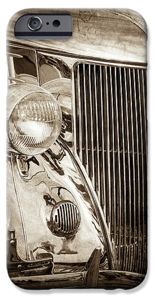 1936 Ford Stainless Steel Grille -0376s IPhone Case by Jill Reger