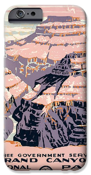 1938 Grand Canyon Litho IPhone Case by Brian Collins
