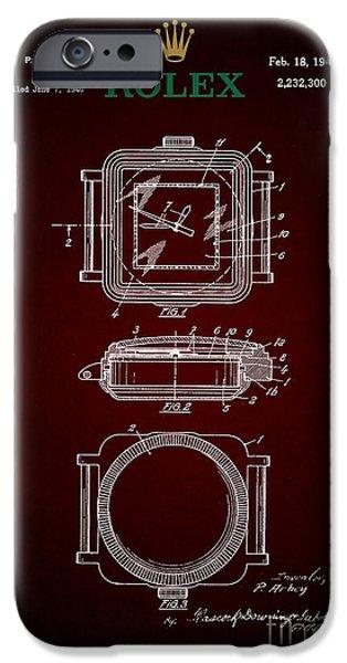 1941 Rolex Watch Patent 4 IPhone Case by Nishanth Gopinathan