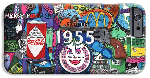 1955 In Review IPhone Case by David Sutter