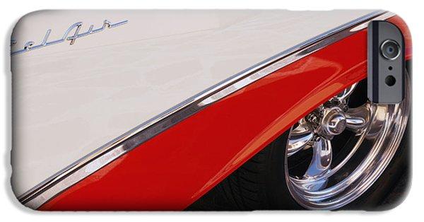 1956 Chevrolet Belair Convertible Wheel IPhone Case by Jill Reger