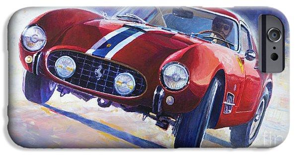 1956 Ferrari 250 Gt Berlinetta Tour De France IPhone Case by Yuriy Shevchuk