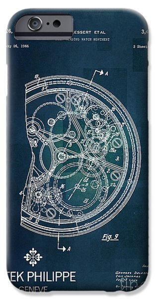 1968 Patek Philippe Patent 1 IPhone Case by Nishanth Gopinathan
