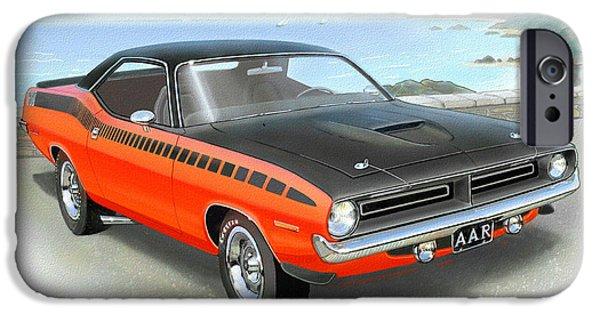 1970 Barracuda Aar  Cuda Classic Muscle Car IPhone 6s Case by John Samsen