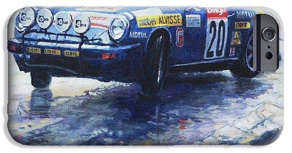 1980 Criterium Lucien Bianchi Porsche Carrera Keller Hoss #20 IPhone Case by Yuriy Shevchuk