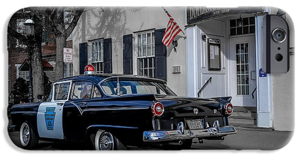 1957 Doylestown Borough Police Cruiser IPhone Case by Michael Brooks