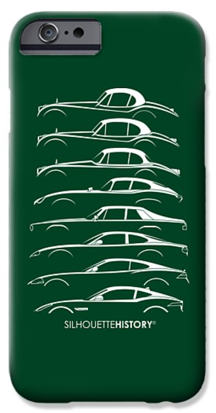 Big Cat Coupe Silhouettehistory IPhone Case by Gabor Vida