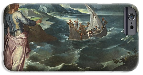 Christ At The Sea Of Galilee IPhone Case by Tintoretto