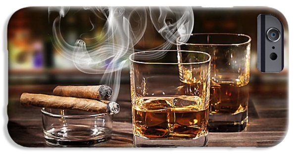 Cigar And Alcohol Collection IPhone Case by Marvin Blaine