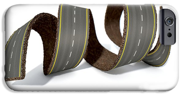 Curled Road IPhone Case by Allan Swart