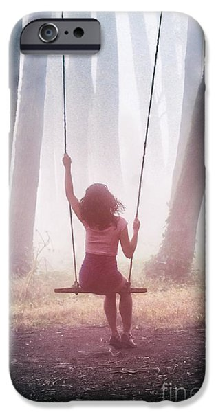 Girl In Swing IPhone Case by Carlos Caetano