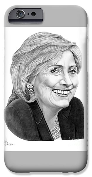Hillary Clinton IPhone 6s Case by Murphy Elliott