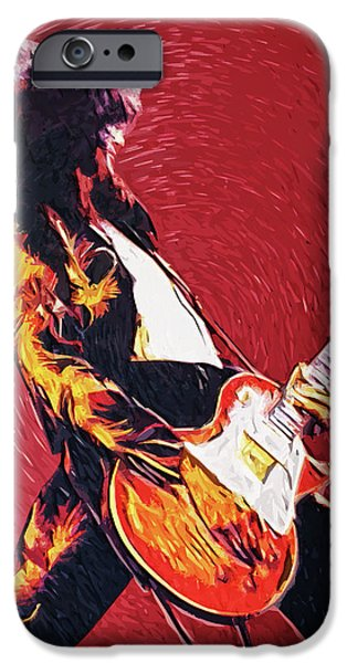 Jimmy Page  IPhone Case by Taylan Soyturk