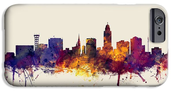 Lincoln Nebraska Skyline IPhone 6s Case by Michael Tompsett